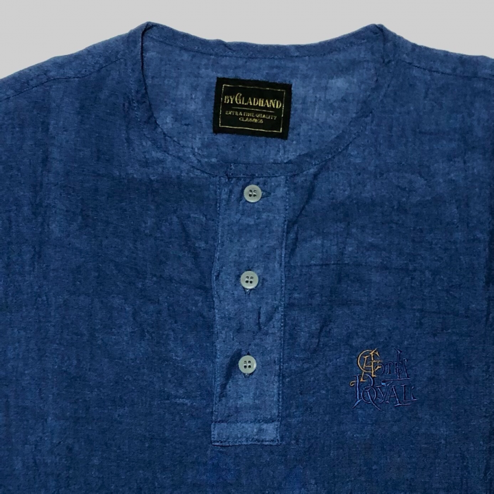 HOTEL ROYAL – L/S PULLOVER SHIRTS / NAVYの商品画像3