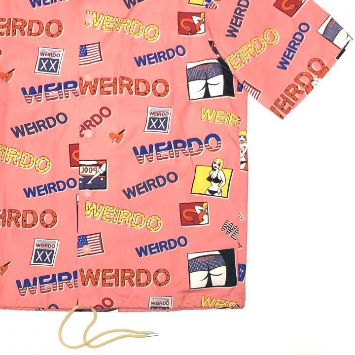 PORN WEIRDO – S/S COACHES SHIRTS / PINKの商品画像4