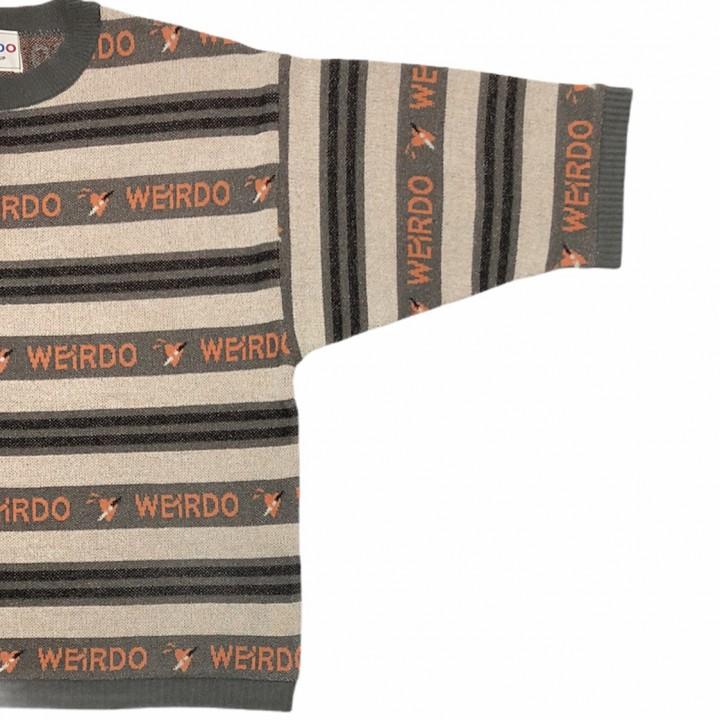PORN WEIRDO – H/S KNIT SWEATER / BLACKの商品画像4