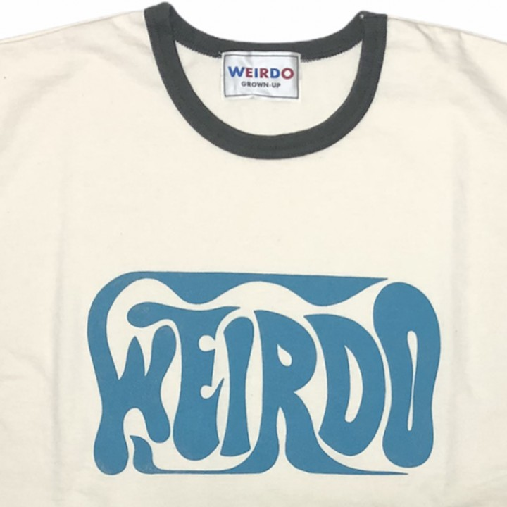 PORN WEIRDO – H/S RINGER T-SHIRTS / CHARCOALの商品画像3