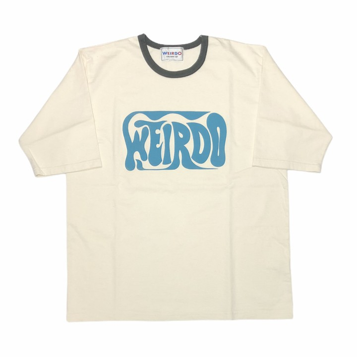 PORN WEIRDO – H/S RINGER T-SHIRTS / CHARCOALの商品画像1