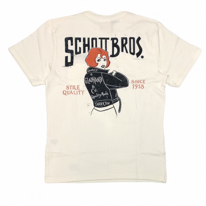 GLADHAND × SCHOTT / BEAUTY LOOKING BACK – S/S T-SHIRTS / WHITEの商品画像2