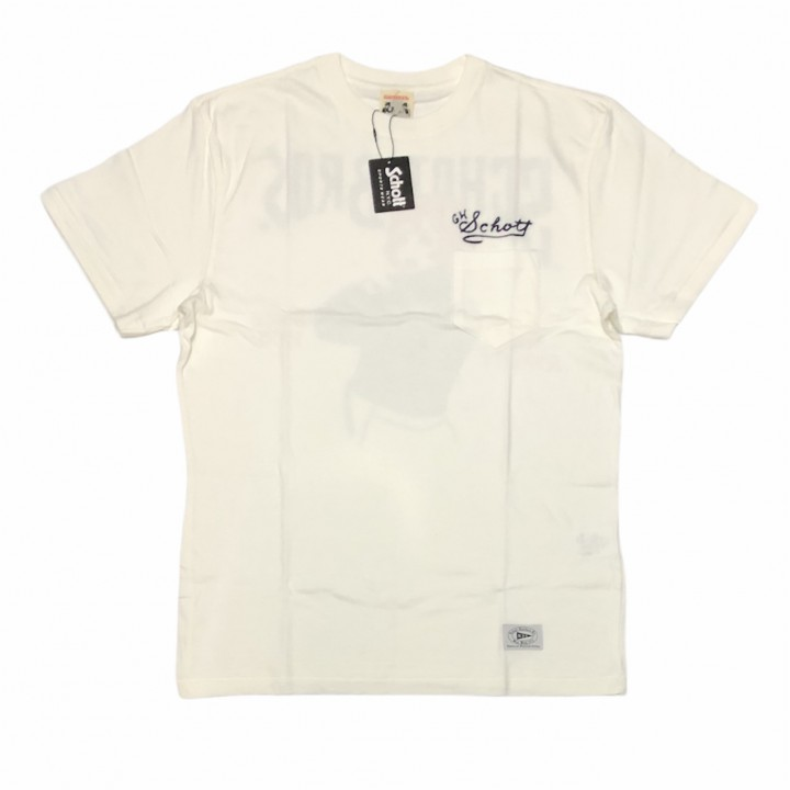 GLADHAND × SCHOTT / BEAUTY LOOKING BACK – S/S T-SHIRTS / WHITEの商品画像1