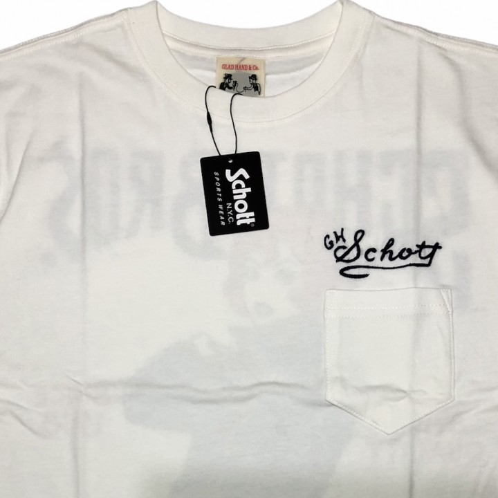 GLADHAND × SCHOTT / BEAUTY LOOKING BACK – S/S T-SHIRTS / WHITEの商品画像5