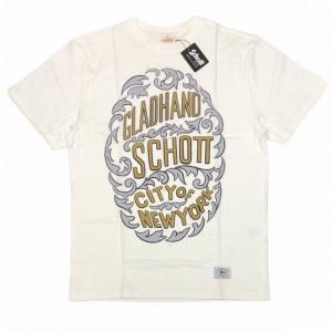 GLADHAND × SCHOTT / CITY OF NEWYORK – S/S T-SHIRTS / WHITEの商品画像