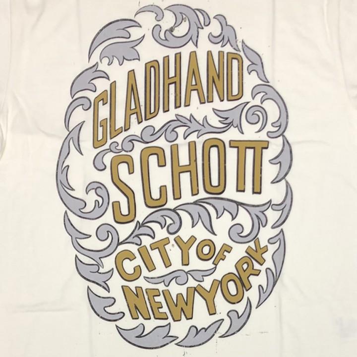 GLADHAND × SCHOTT / CITY OF NEWYORK – S/S T-SHIRTS / WHITEの商品画像4