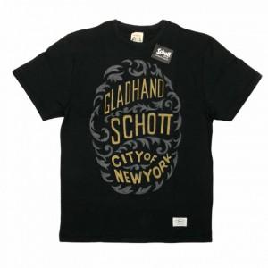 GLADHAND × SCHOTT / CITY OF NEWYORK – S/S T-SHIRTS / BLACKの商品画像