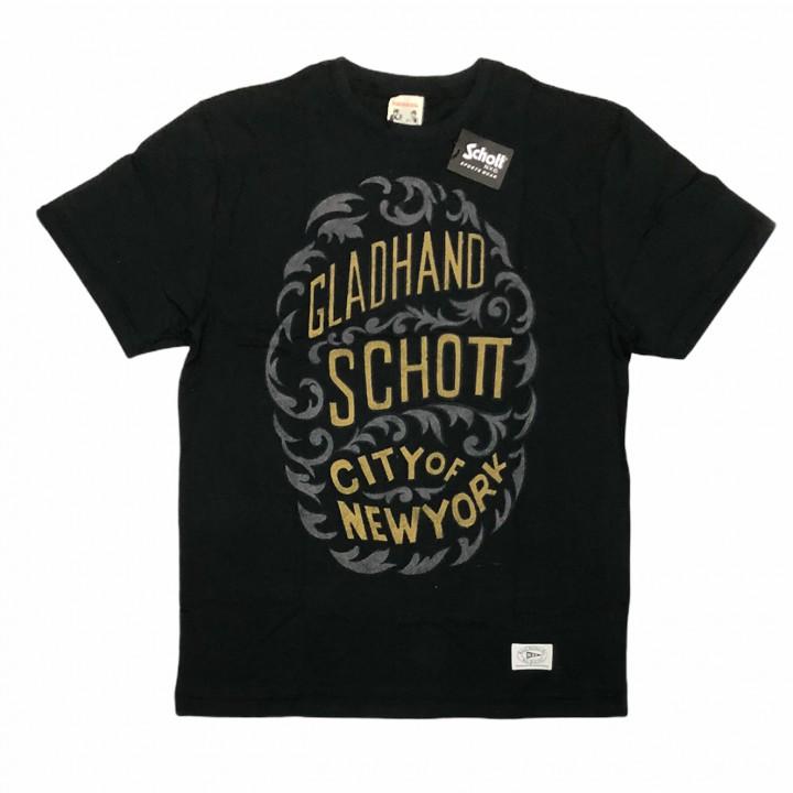 GLADHAND × SCHOTT / CITY OF NEWYORK – S/S T-SHIRTS / BLACKの商品画像1