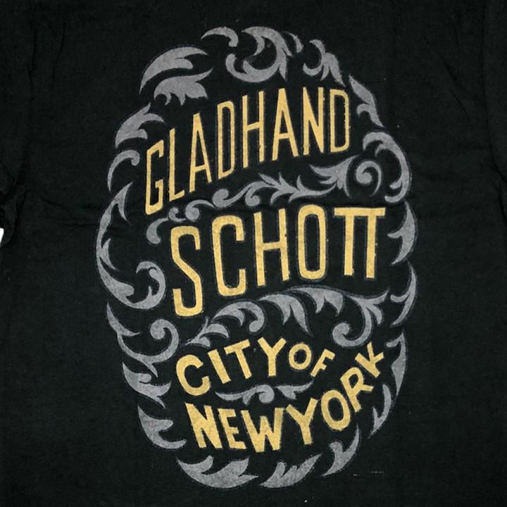 GLADHAND × SCHOTT / CITY OF NEWYORK – S/S T-SHIRTS / BLACKの商品画像4