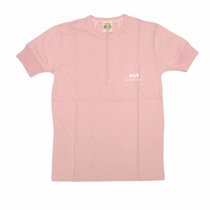 HEARTLAND – S/S HENRY NECK T-SHIRTS / PINKの商品画像1