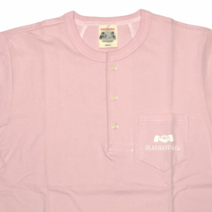 HEARTLAND – S/S HENRY NECK T-SHIRTS / PINKの商品画像3