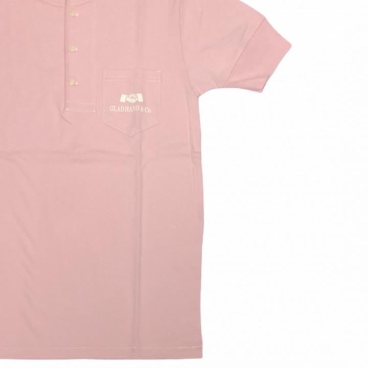 HEARTLAND – S/S HENRY NECK T-SHIRTS / PINKの商品画像4