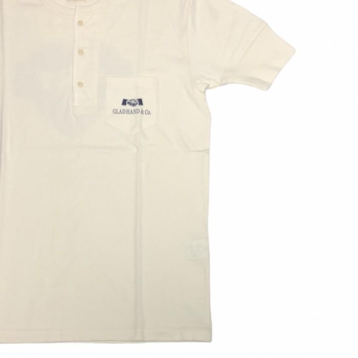 HEARTLAND – S/S HENRY NECK T-SHIRTS / WHITEの商品画像3