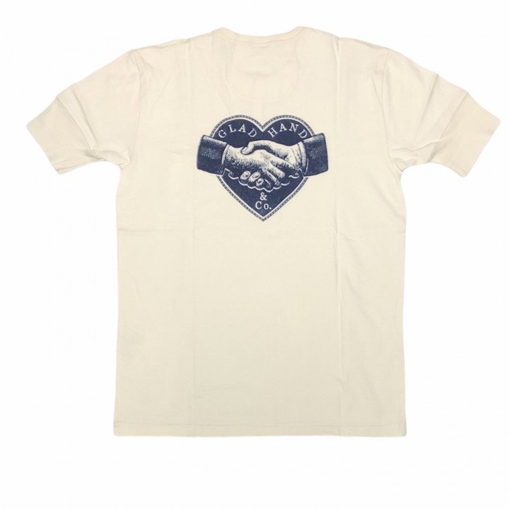 HEARTLAND – S/S HENRY NECK T-SHIRTS / WHITEの商品画像2