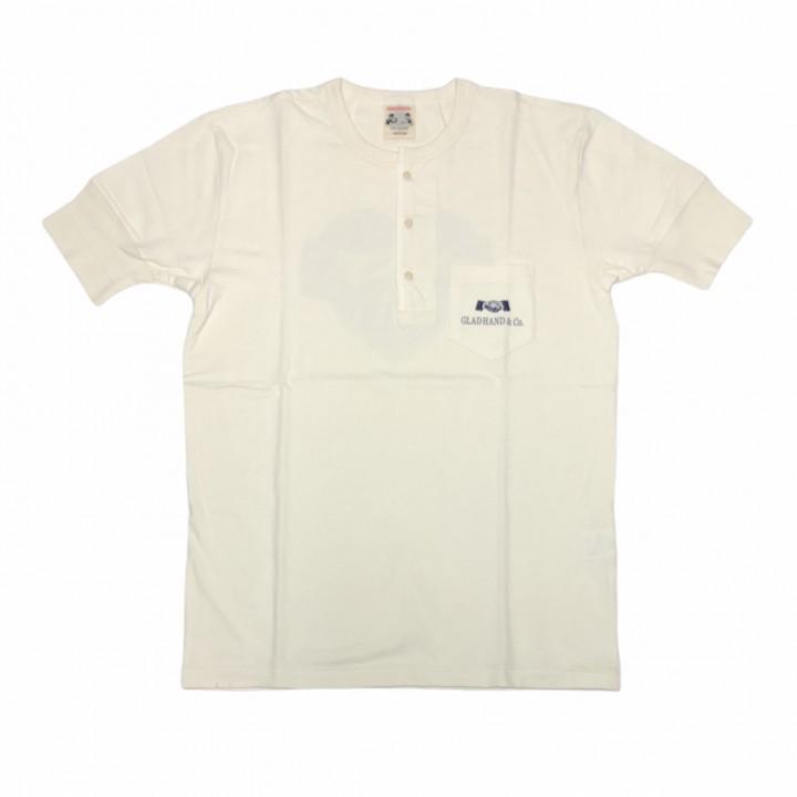 HEARTLAND – S/S HENRY NECK T-SHIRTS / WHITEの商品画像1