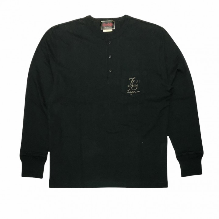 DEAL WITH THE DEVIL – L/S HENRY T-SHIRTS / BLACKの商品画像1