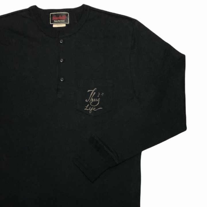 DEAL WITH THE DEVIL – L/S HENRY T-SHIRTS / BLACKの商品画像4