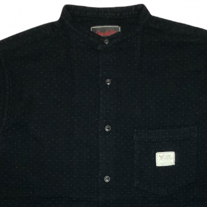 DEAL WITH THE DEVIL – L/S STAND COLLAR SHIRTS /BLACKの商品画像3