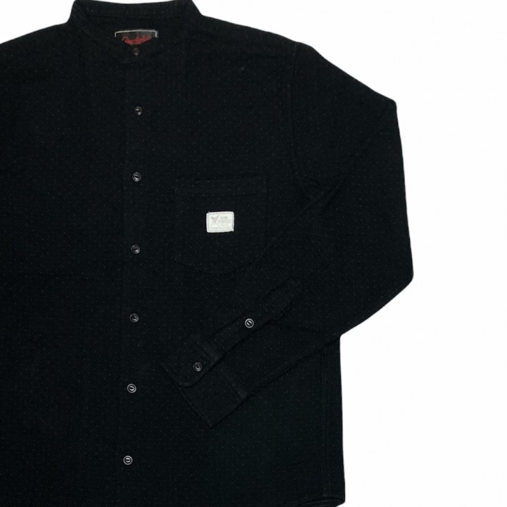DEAL WITH THE DEVIL – L/S STAND COLLAR SHIRTS /BLACKの商品画像4