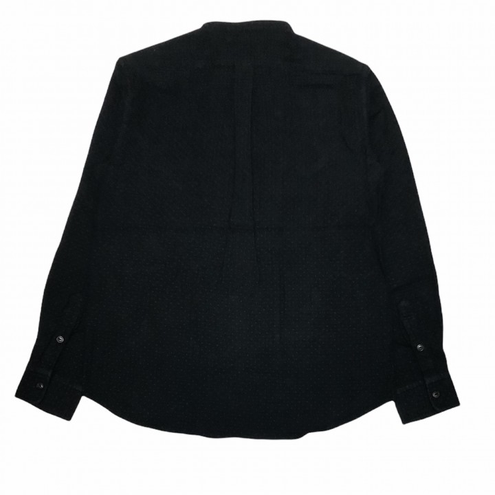DEAL WITH THE DEVIL – L/S STAND COLLAR SHIRTS /BLACKの商品画像2