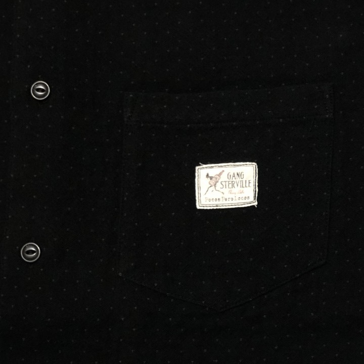 DEAL WITH THE DEVIL – L/S STAND COLLAR SHIRTS /BLACKの商品画像5